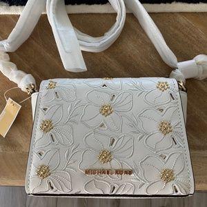 Women's White Michael Kors crossbody purse